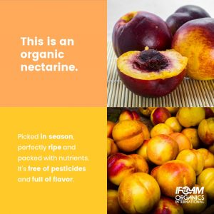 This is an organic nectarine.